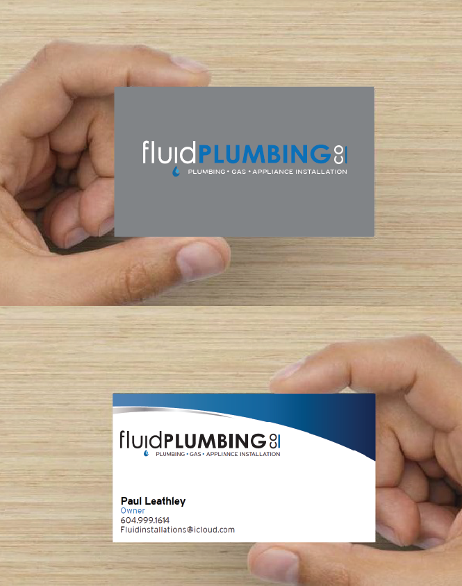 Fluid Plumbing Business Cards – Graphic Design & Printing Services