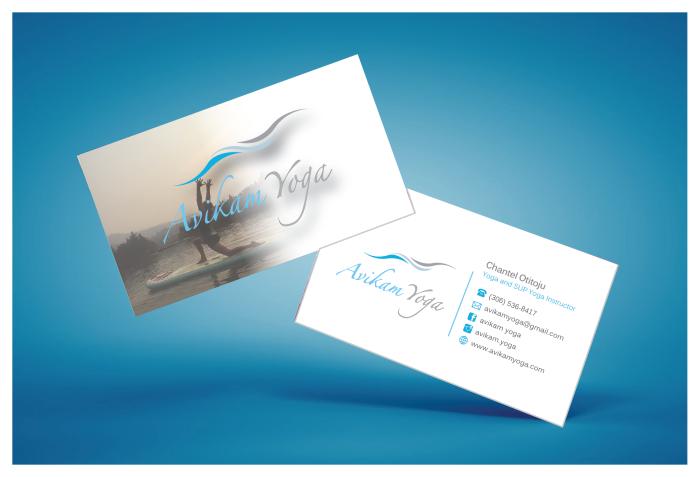 Avikam yoga business card design graphic design printing services avikam business card 03g reheart Choice Image
